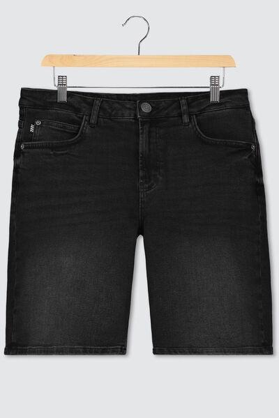 Bermuda jean noir en coton recyclé