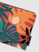 Pochette plate imprimé feuilles tropicales