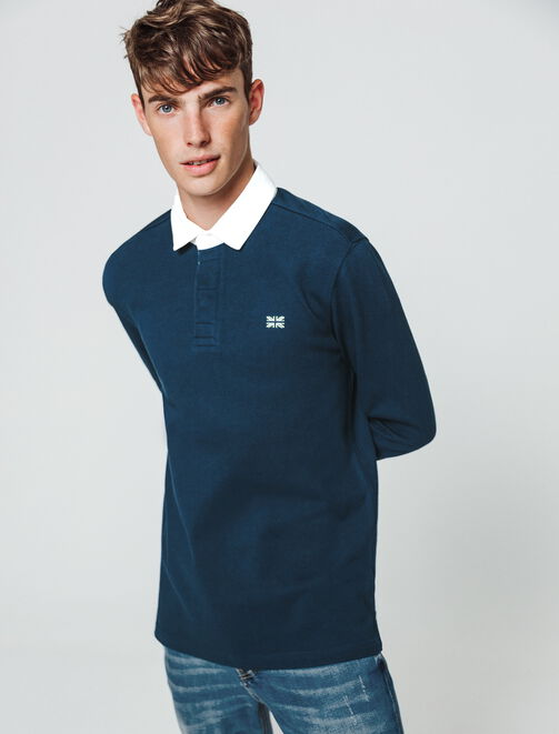 Polo rugby uni  homme