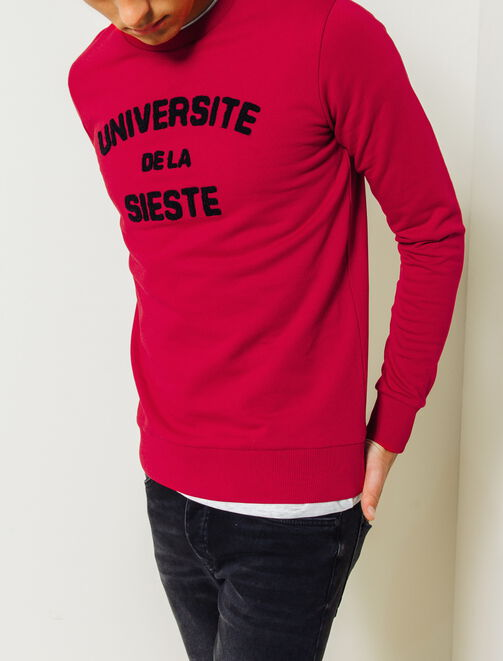 Sweat Broderie bouclette homme