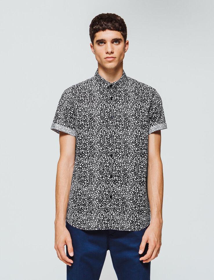 chemise manches courtes slim imprimée