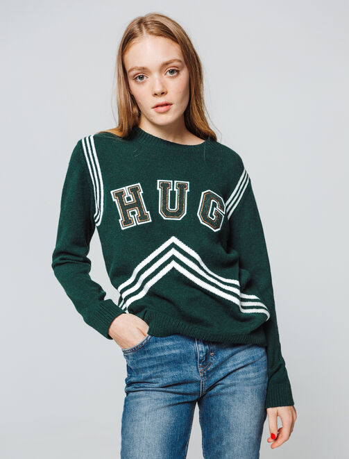"Pull à message ""HUG"" femme"