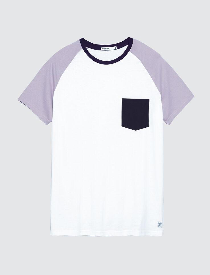 T-shirt uni poche contrastante