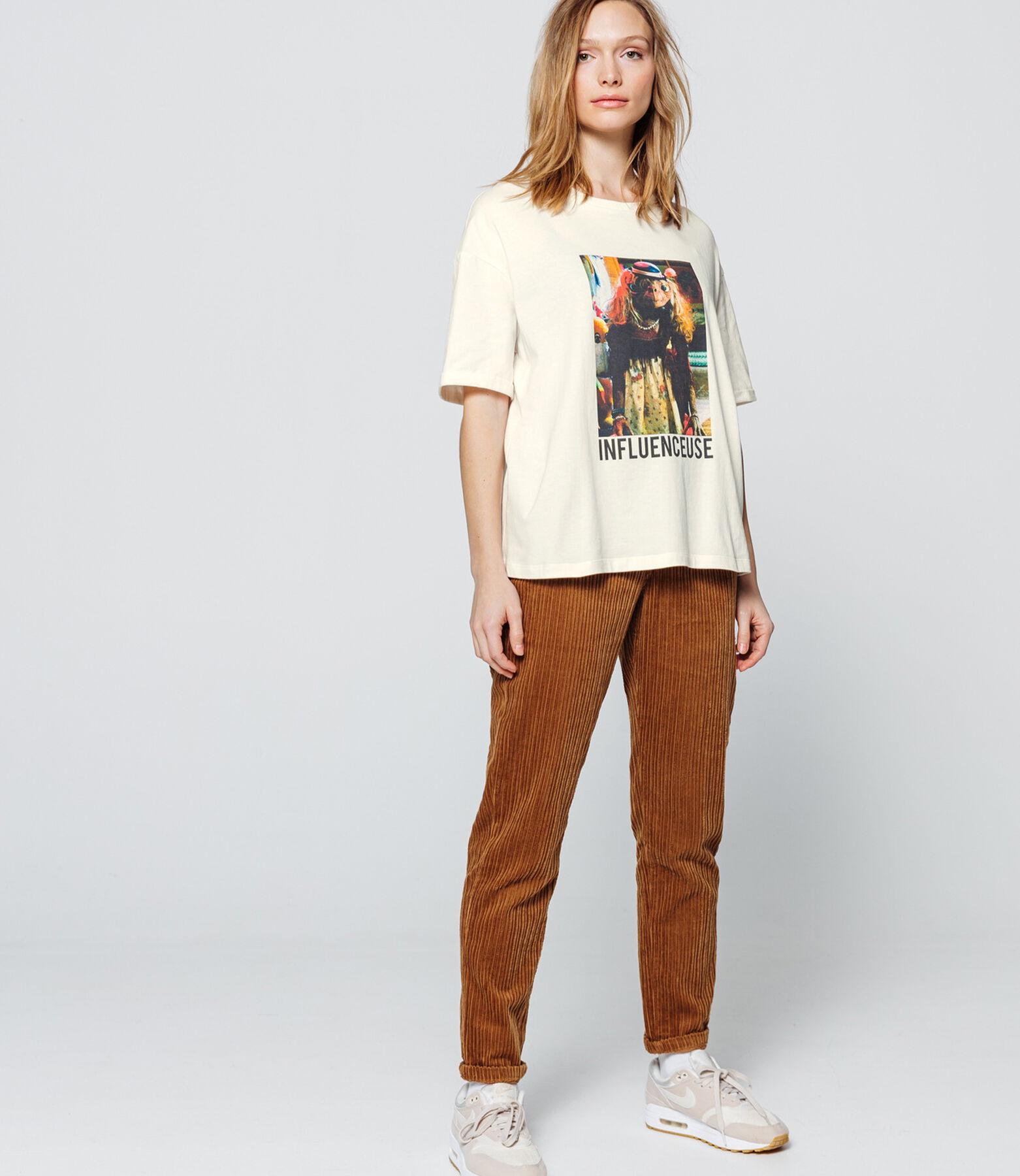 """T-shirt E.T. à message """"influençeuse"""""""