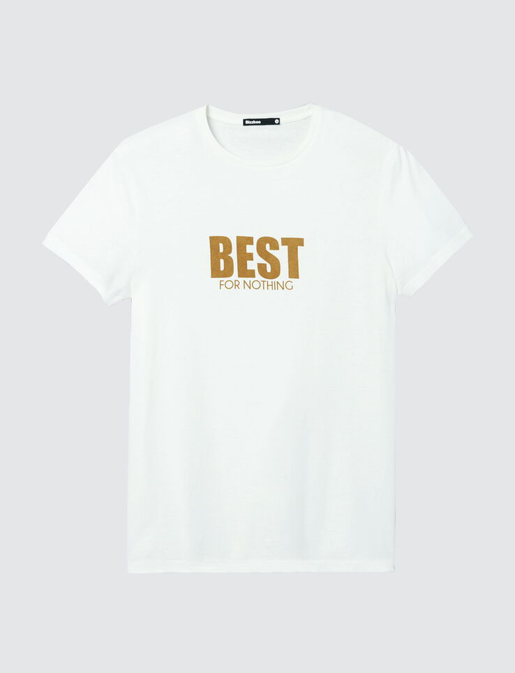 "T-shirt à message ""Best for Nothing"""