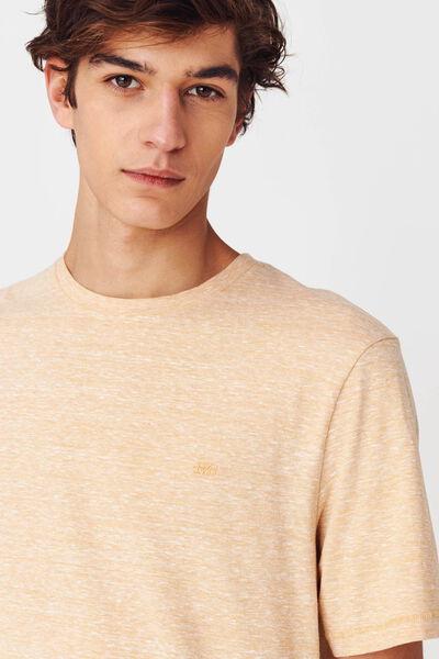 T-shirt matière fantaisie brodé