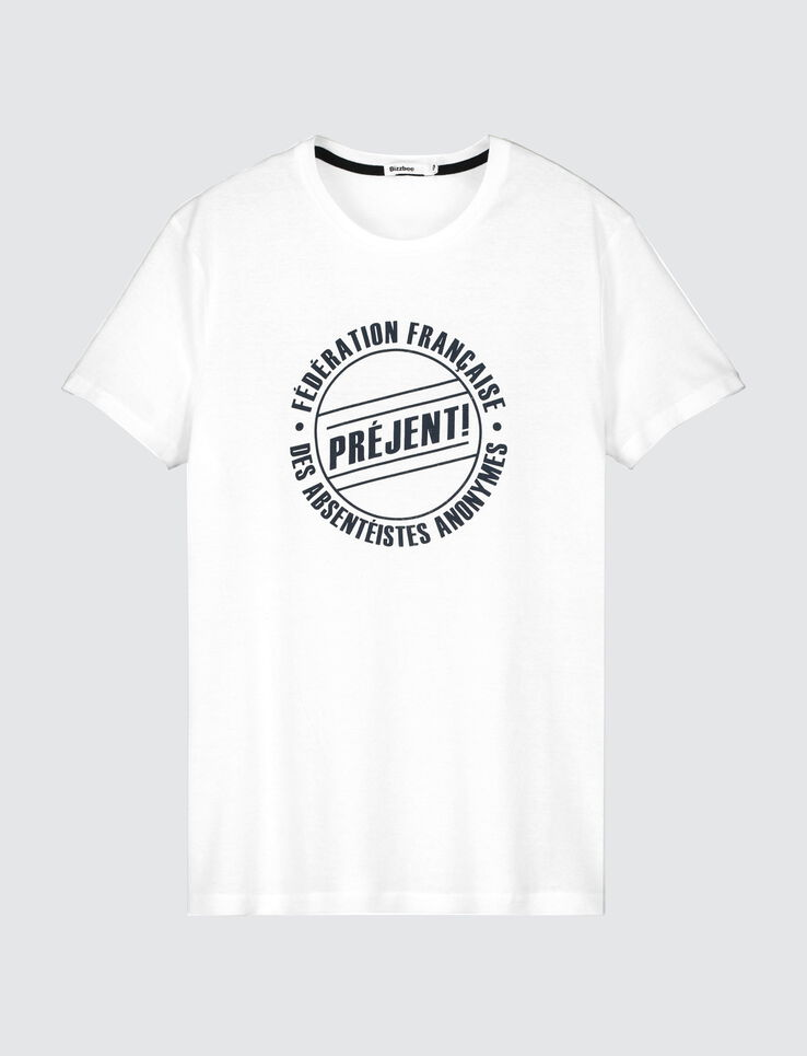 "T-shirt humour ""Préjent"""