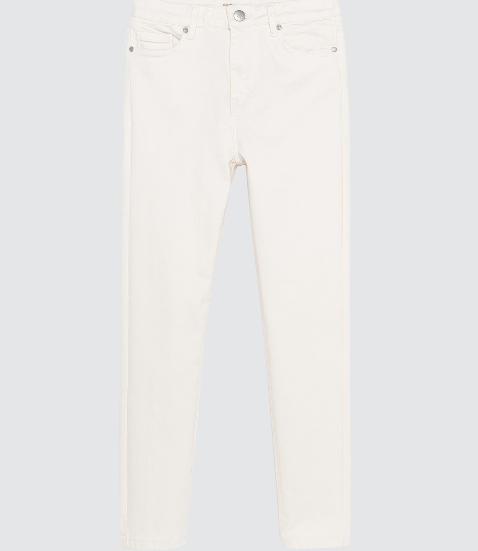 SKinny Blanc Taille Haute