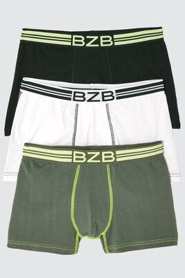 Boxers Vert Fluo Coton IAB, lot*3