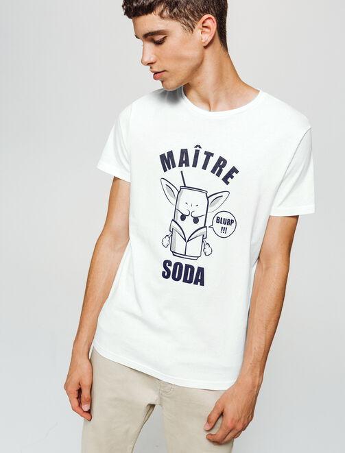 T-shirt imprimé dessin humour homme