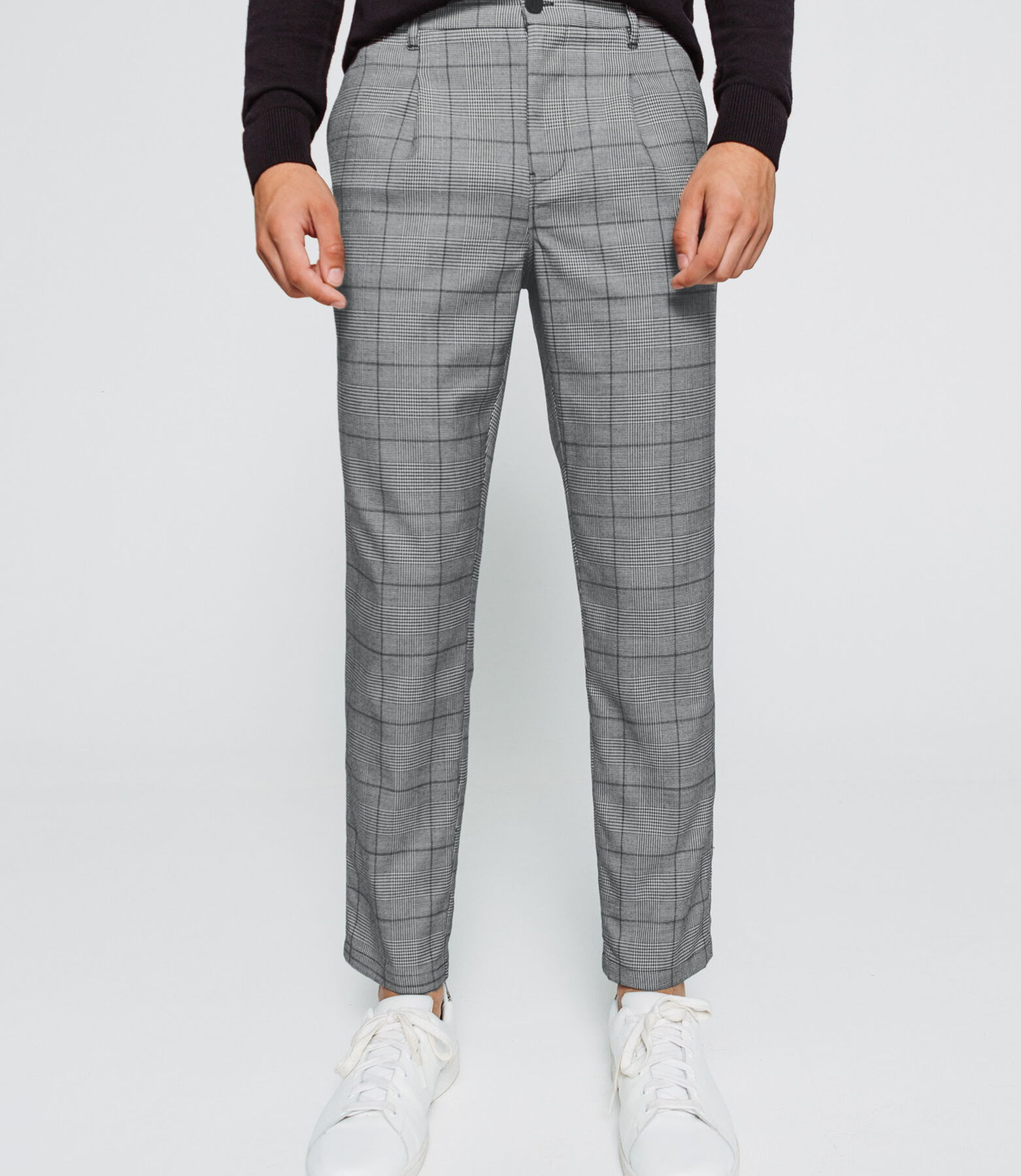 Pantalon de ville à carreaux