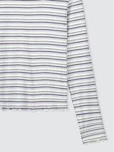 T-shirt à côtes rayé