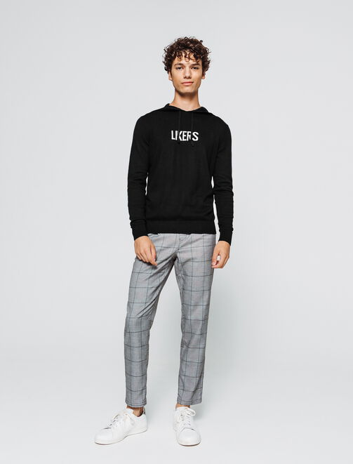 "Pull jacquard à message ""Likers"" homme"