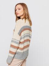 Pull en laine et polyester recyclé