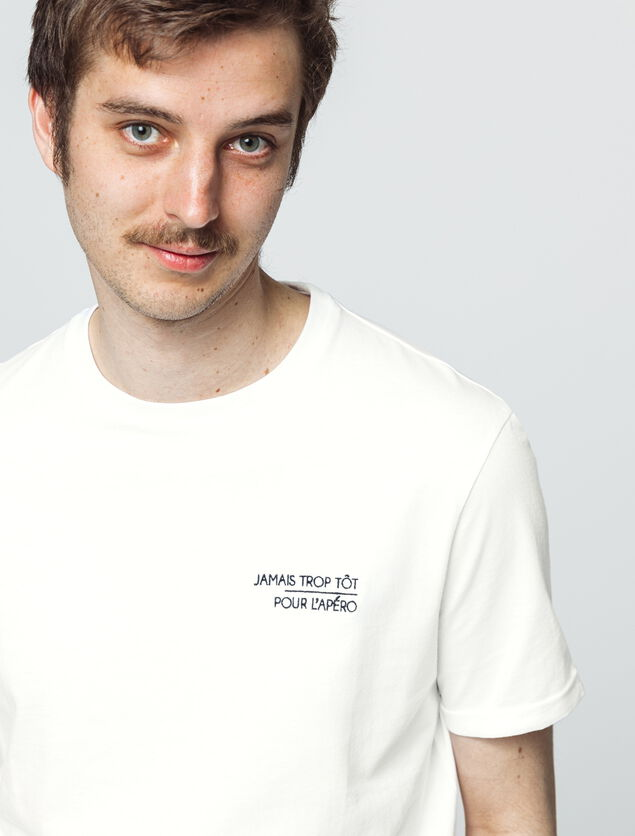 T-shirt broderie humour
