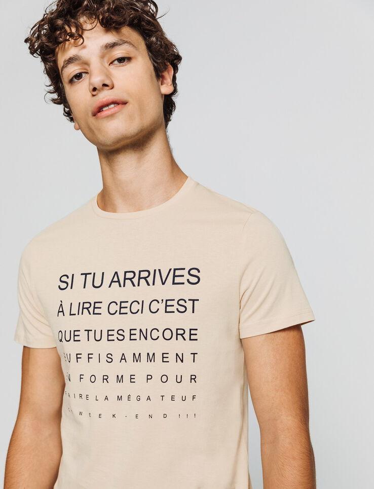 T-shirt à message humour