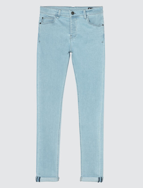 Jean skinny bleached homme