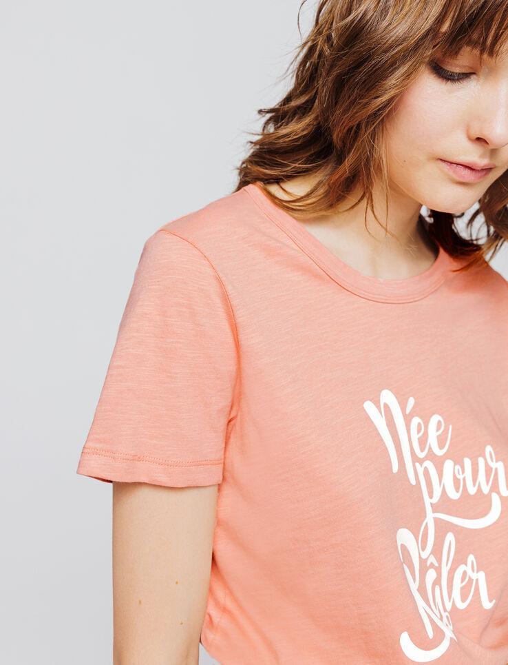 """T-shirt message """"Née pour râler"""""""