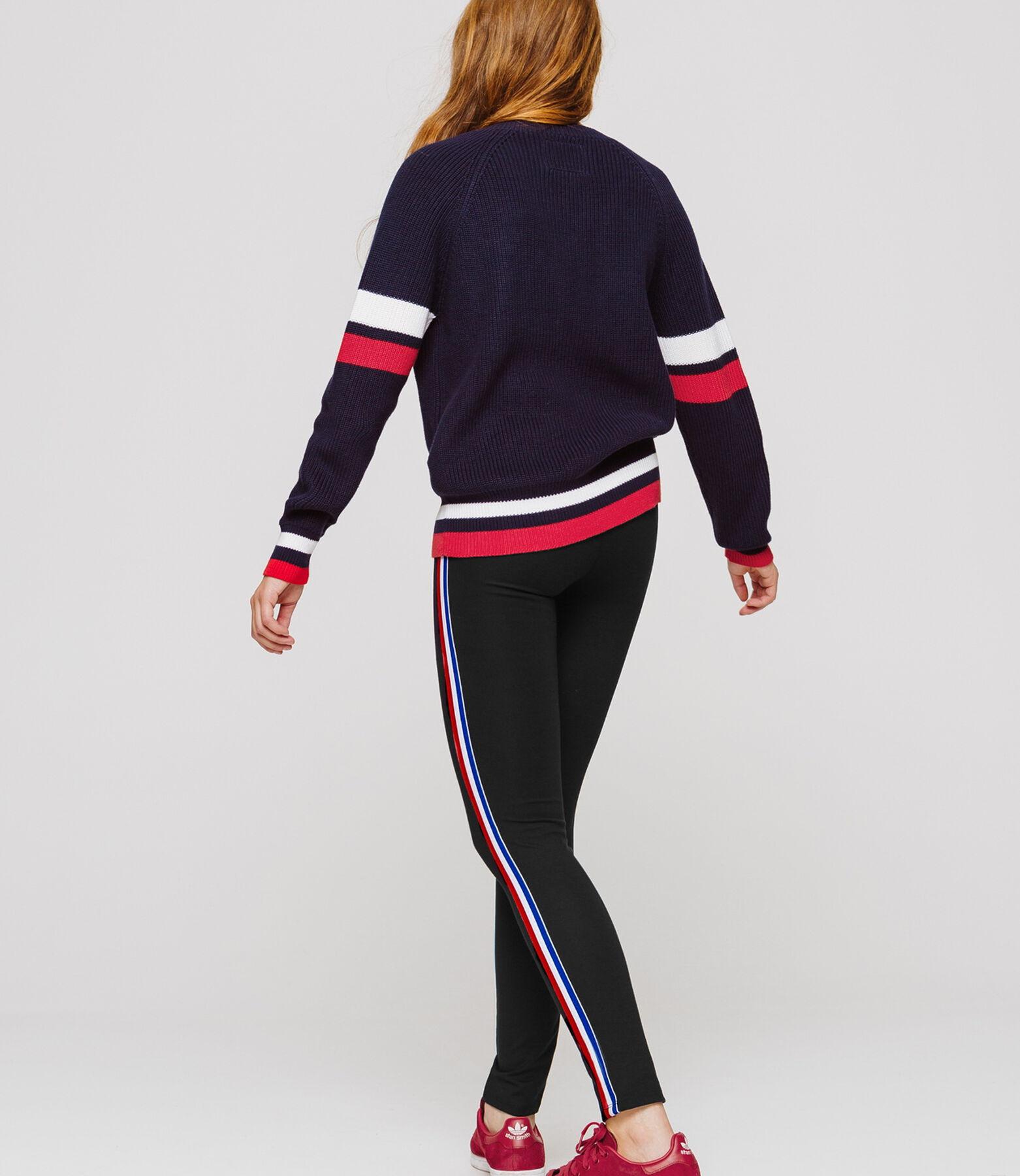 legging en maille avec bande contrastante côté