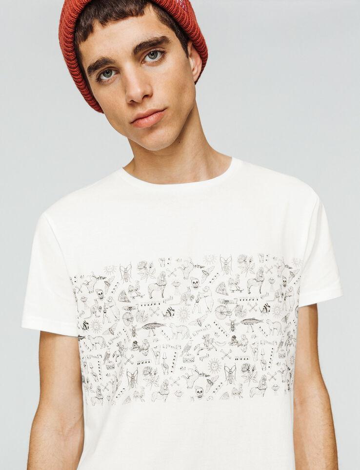T-shirt bande imprimée