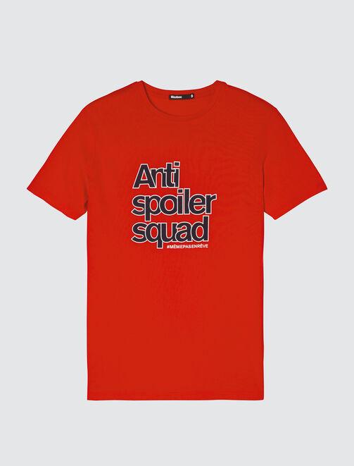 """T-shirt coton manches courtes """"Antispoiler squad"""" homme"""