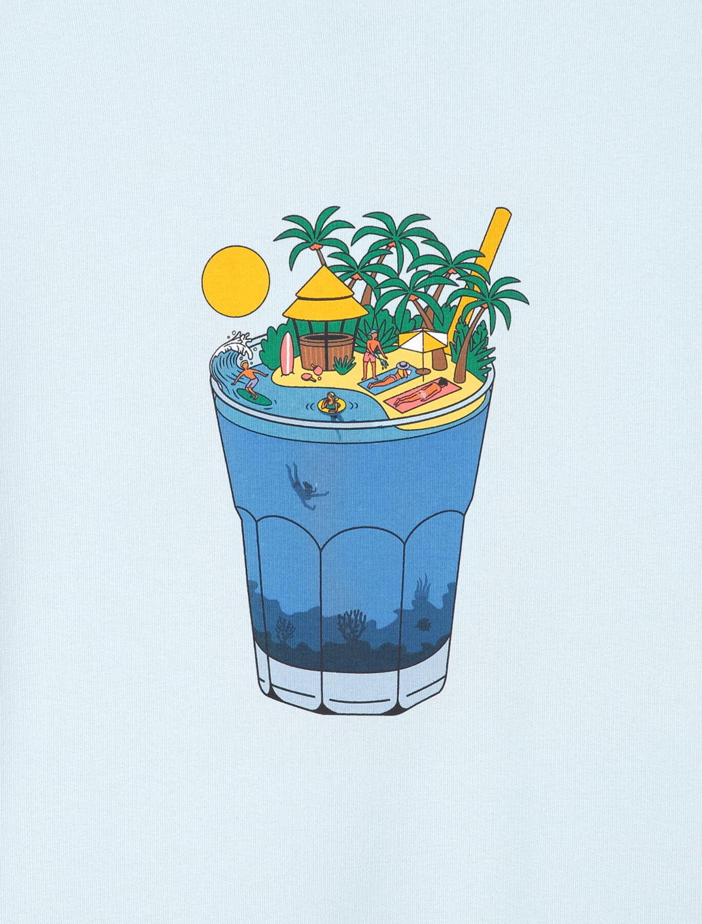Sweat col rond imprimé cocktail