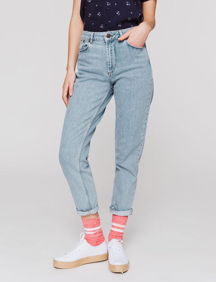 82f73a095cdb6 Jeans MOM taille haute femme Stone Clair   Bizzbee