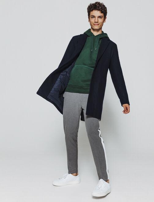 Pardessus en drap de laine homme