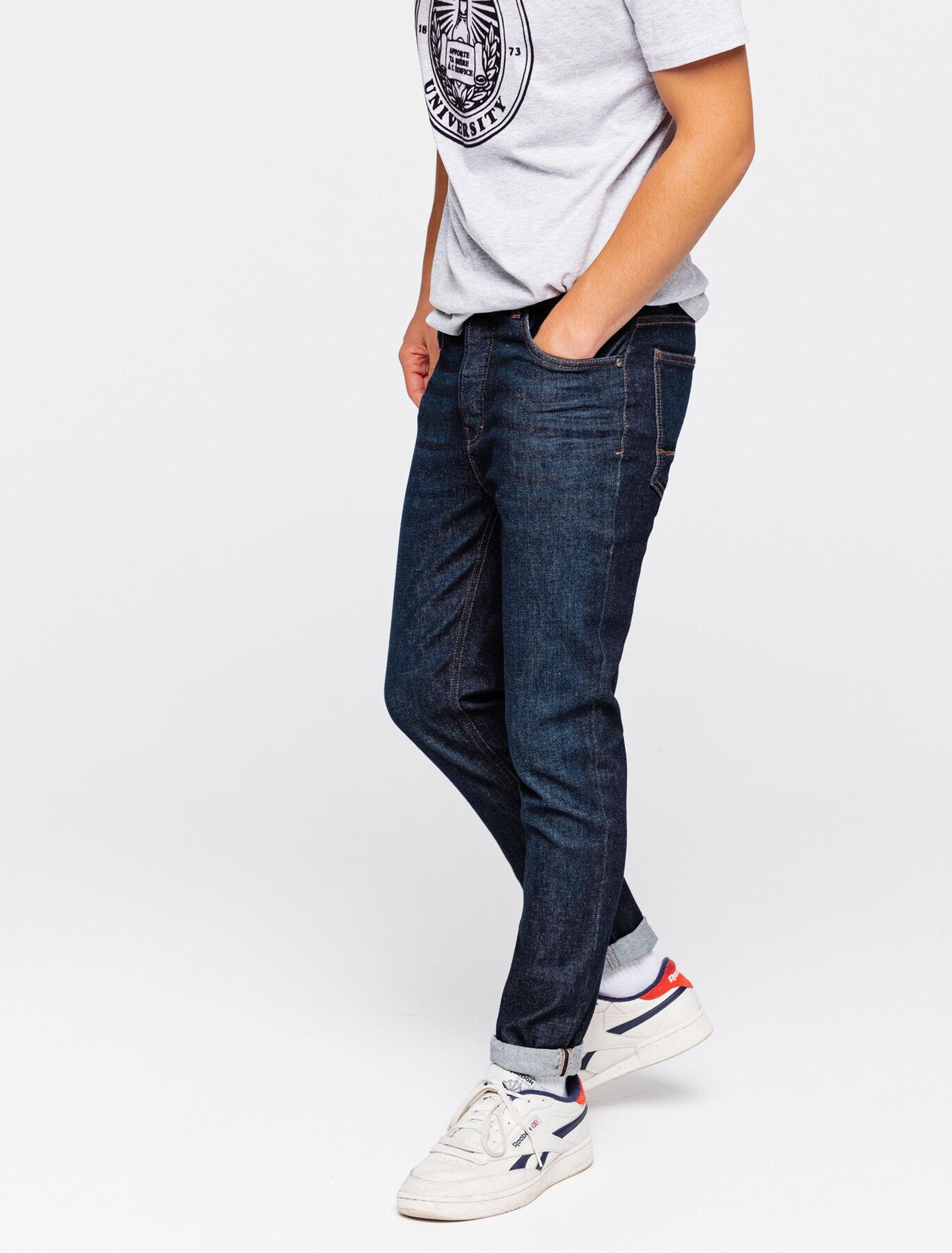 Jean slim cropped tapered brut