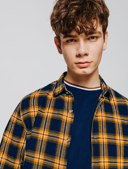 Chemise à carreaux flanelle homme