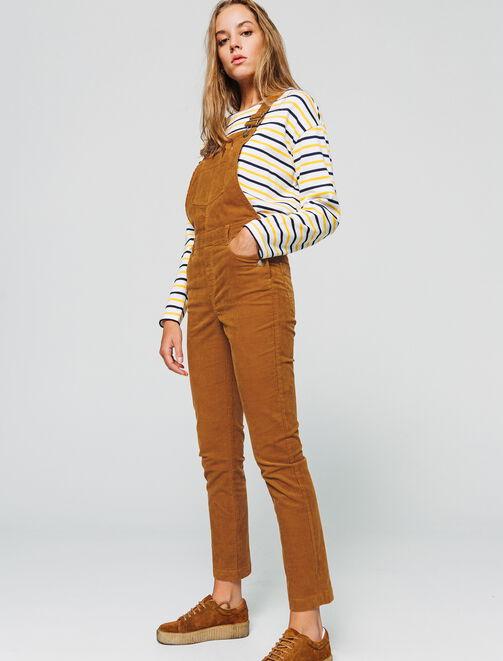 Salopette pantalon velours femme