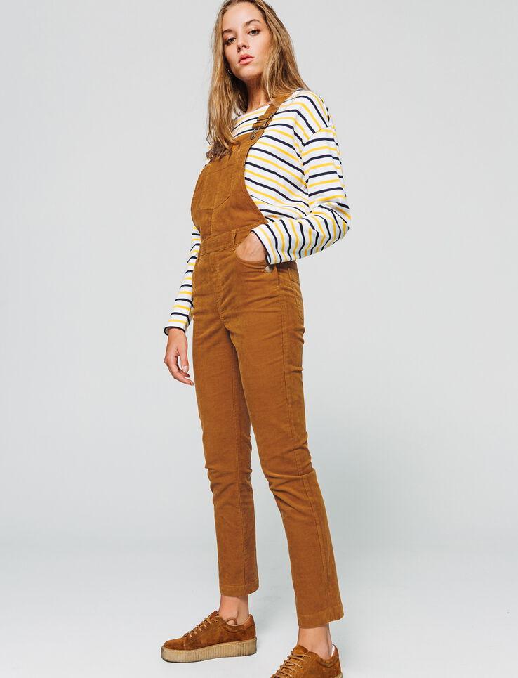 Salopette pantalon velours