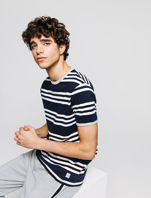T-shirt esprit néo-marin homme