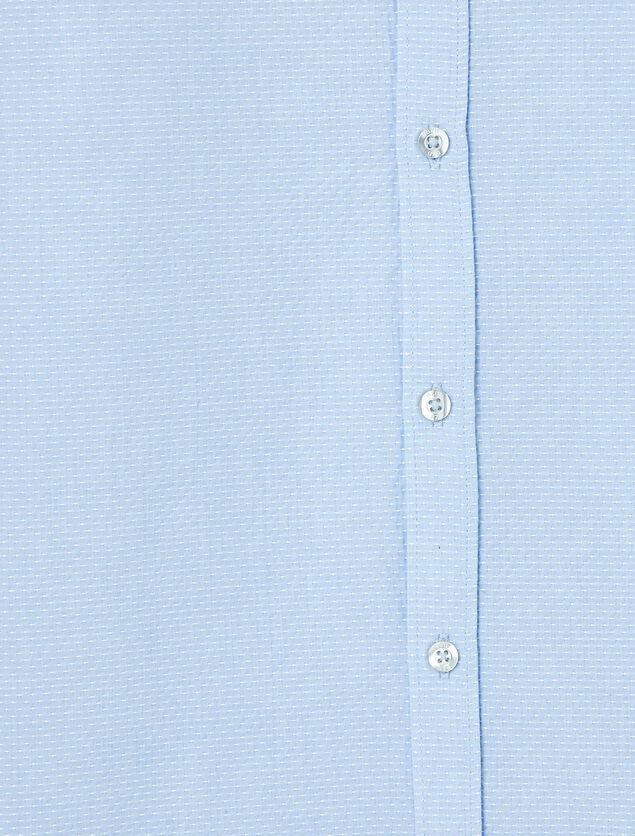 Chemise brodée bleu ciel