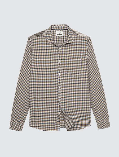 Chemise à petits carreaux homme