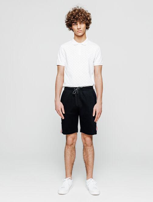 short molleton bande côté homme