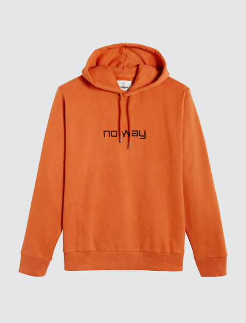"Sweat brodé ""NO WAY"" homme"