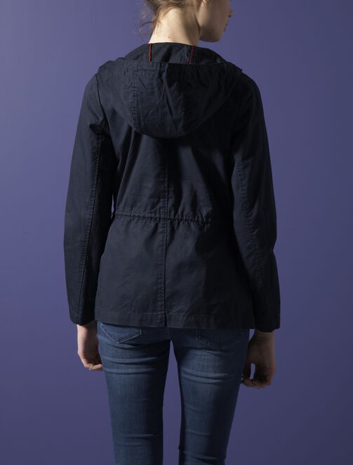 Parka en coton avec poches plaquées femme