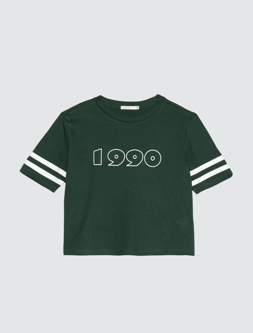 T-shirt bandes imprimées 1990 femme