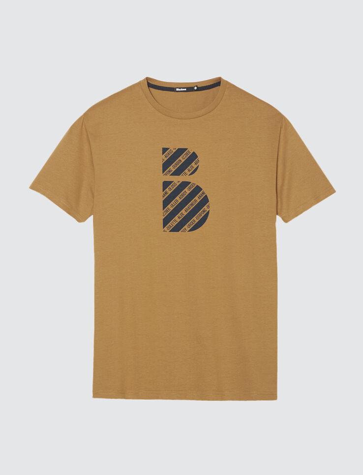 T-shirt imprimé logo humour