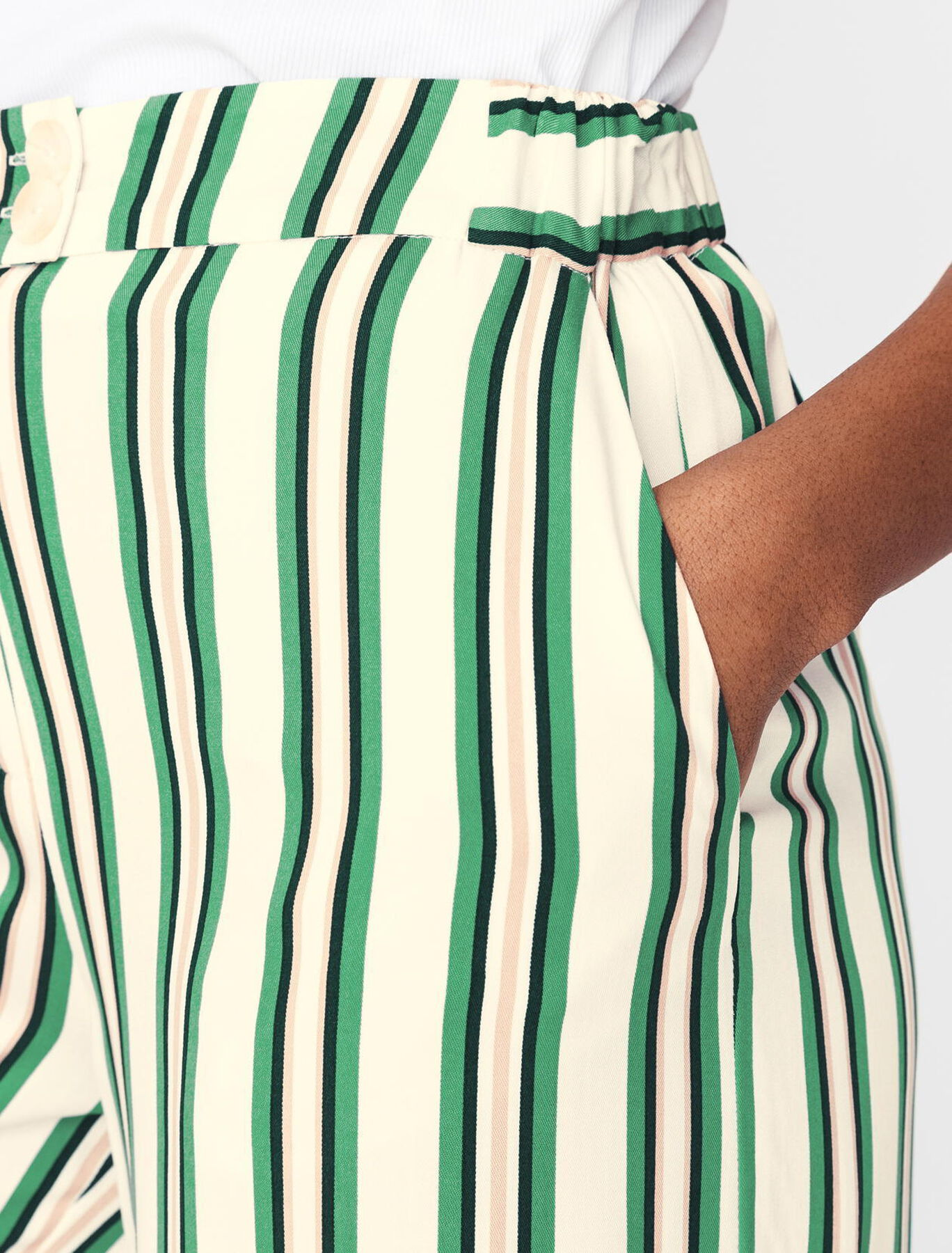 Pantalon fluide Rayé
