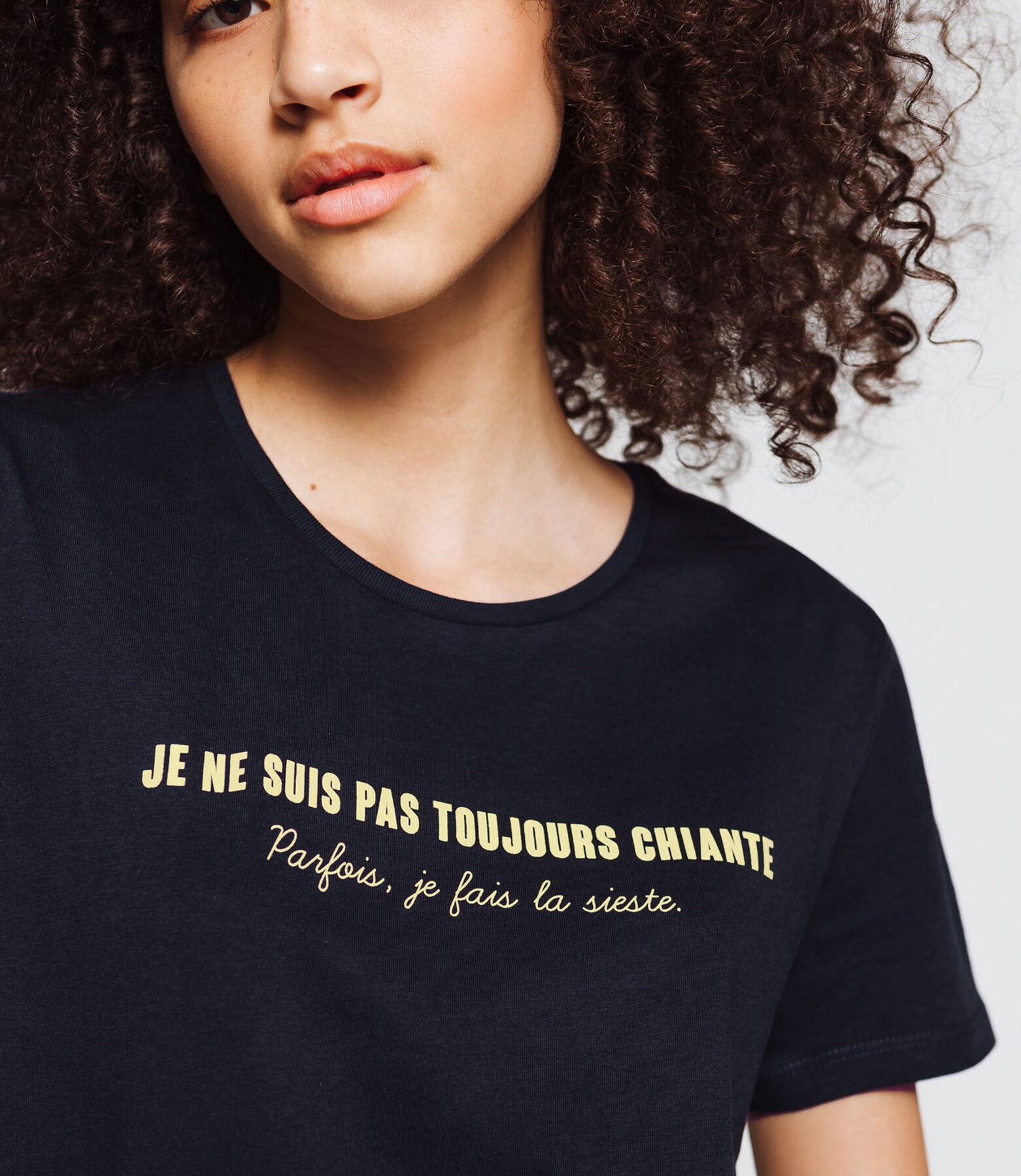 """T-shirt """" Je ne suis pas toujours chiante, parfois"""