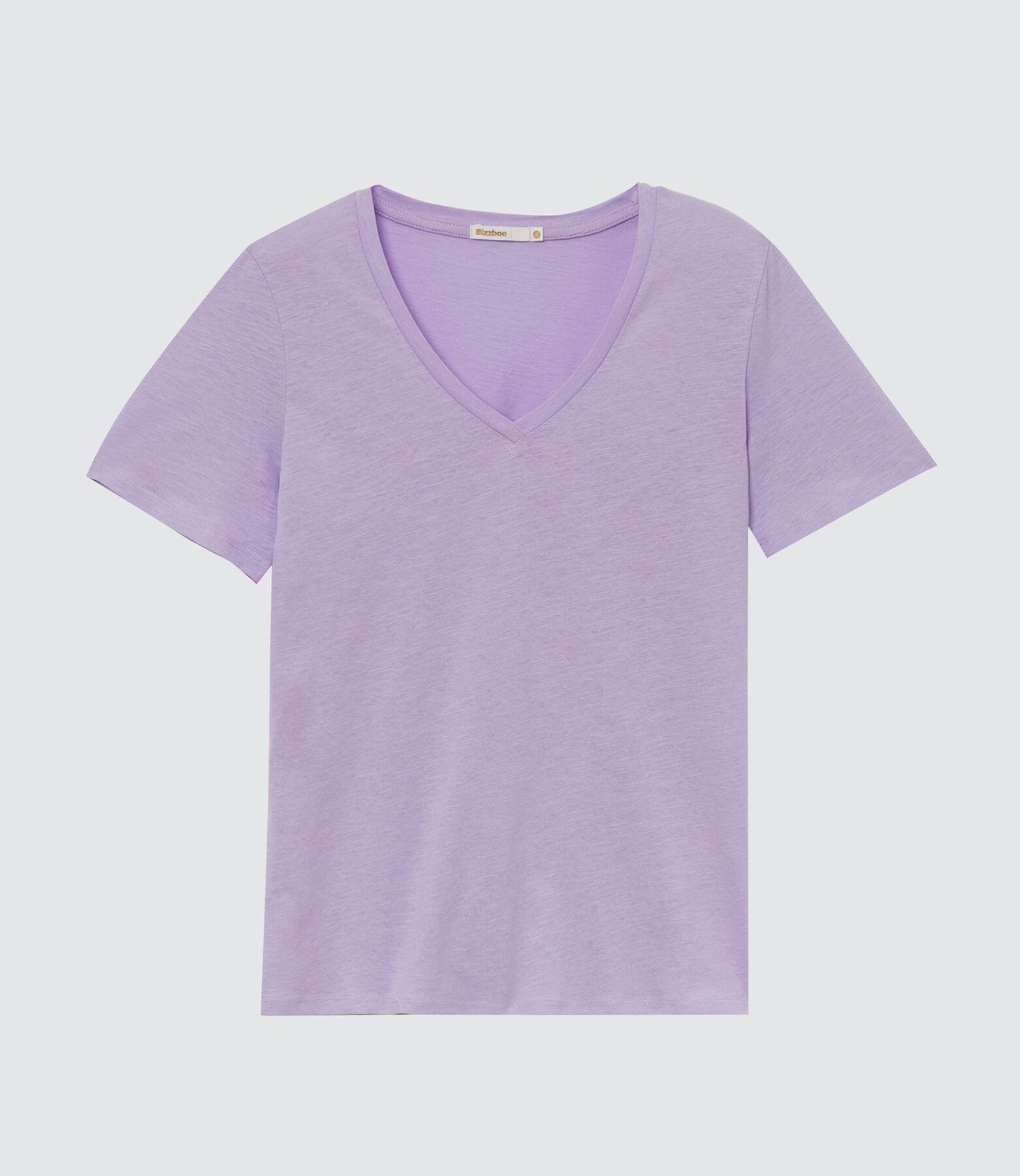 T-shirt col V en coton IAB
