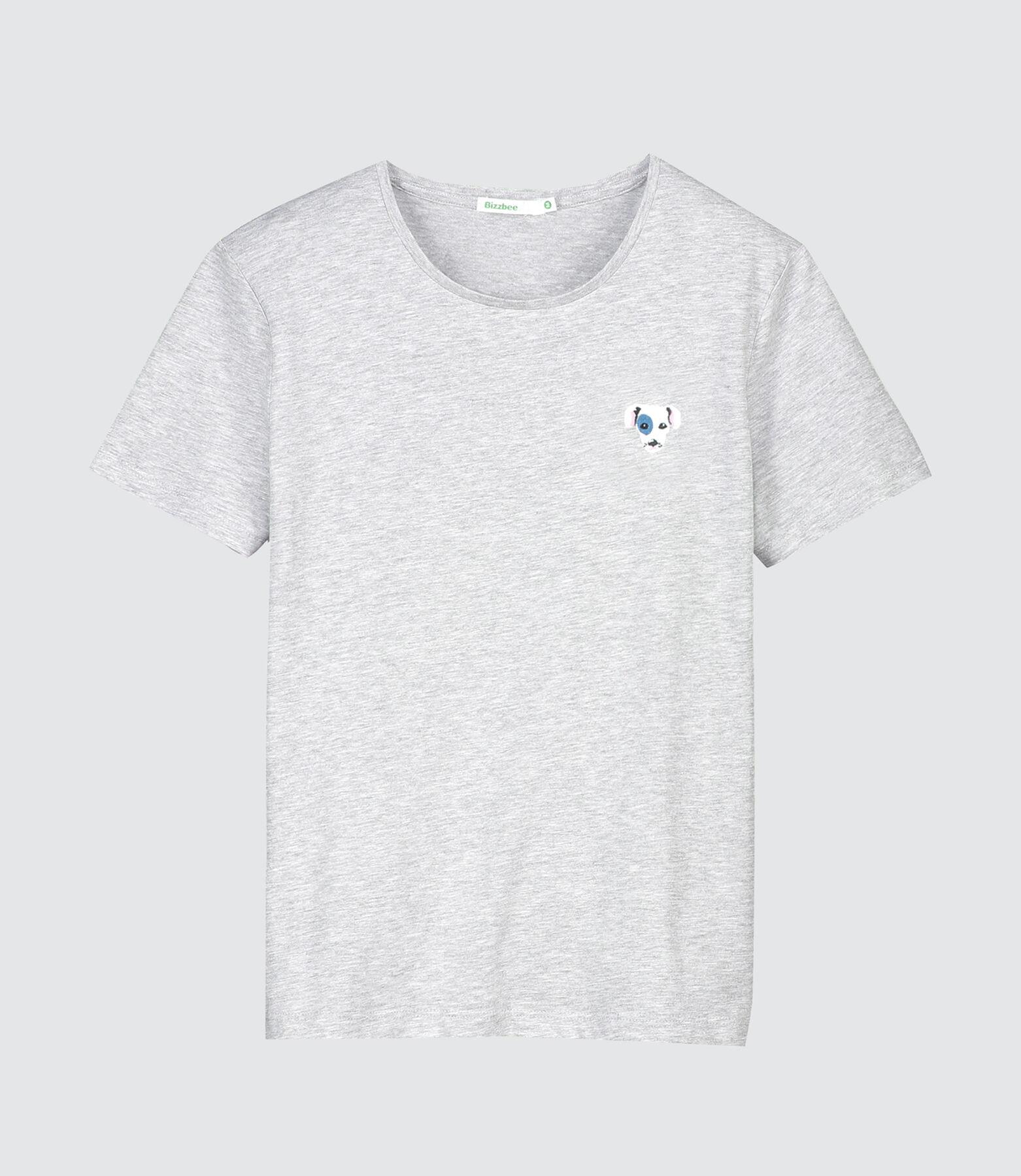 T-shirt brodé tête de chien
