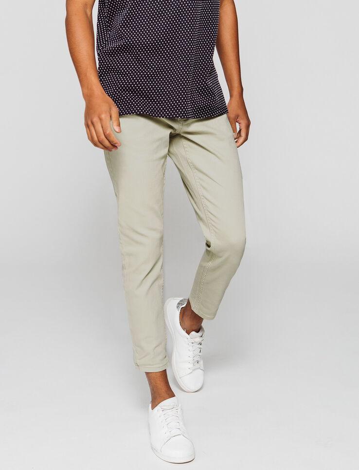 Pantalon slim tapered couleur