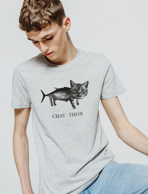 "T-shirt ""Chat-Thon"" homme"