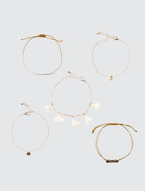 Set 5 Bracelets Pipelette femme