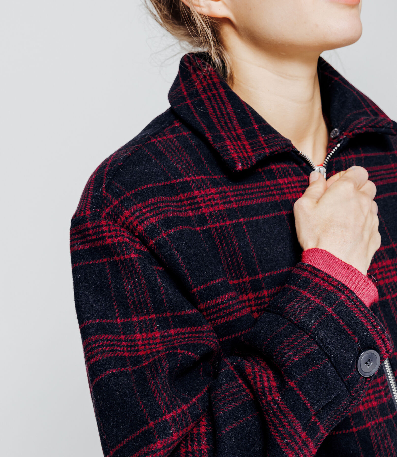 Manteau carreaux