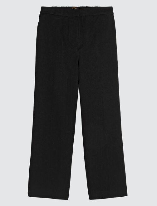 Pantalon à jambes larges uni femme
