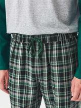 Pantalon de pyjama à carreaux Serpentard